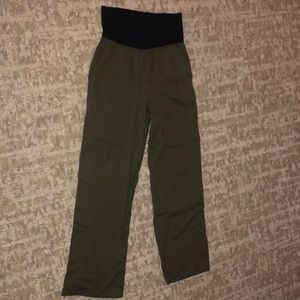 Olive loose fitting pants
